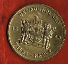 1949 NEWFOUNDLAND BRASS MEDALLION
