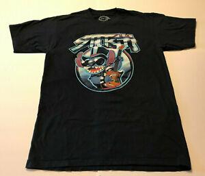 Large Disney Lilo & Stitch Tour Guitar Navy Blue Graphic Mens T-Shirt