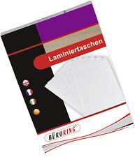Laminierfolien  DIN A4 75/80 Mic Marke 1000 St 10 x 100er kopfverleimt glänzend
