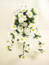 Flores Artificiales Con Cable Daisy se arrastra planta para cestas colgantes y enrejado