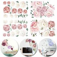 Wandtattoo Pfingstrose Rose Blumen Wandaufkleber Wandsticker PVC Aufkleber Deko