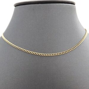 UnoAerre 18K Gold 750 Italy Solid Cuban Curb Link Pendant Chain Necklace 26in