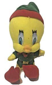 Tweety Bird Plush Animal Elf Christmas Looney Tunes 1998 Collectible Vintage