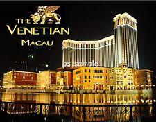 China - Macau - VENETIAN RESORT night  Travel Souvenir Fridge Magnet