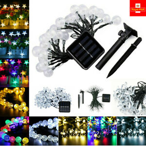 LED SOLAR POWERED RETRO STRING FAIRY LIGHTS DECOR XMAS GARDEN OUTDOOR PARTY 9.5M