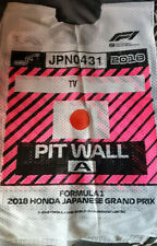F1 Formula 1 Japan GP Suzuka TV Pitwall A Tabard 2018 cool unique rare souvenir