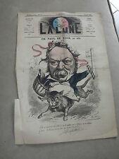 journal La lune Numéro 76 du 18 /08 / 1867 ( ch paul de kock ) par Gill