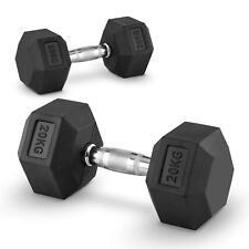 Lot 2x haltère 20 kg entraînement muscu dumbell Fitness training bodybuilding