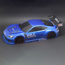 RIDE 1:10 SUBARU BRZ Race RC Cars Concept Body Pre-Printed Blue M-Chassis #27029