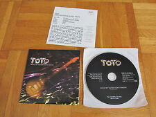 TOTO While My Guitar Gently Weeps 2002 EUROPEAN collectors CD single + info