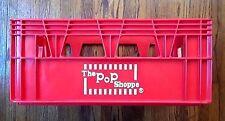 "Vintage 1970's ""The Pop Shoppe"" 24 Soda Bottle Crate Carrier , Red ,Hard Plastic"