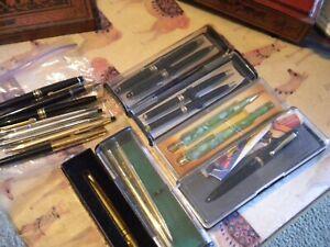 Large Antique Fountain Pen Lot