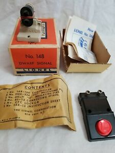 1959 LIONEL POST-WAR 148 DWARF SIGNAL with ORIGINAL ENVELOPE & BOX - TESTED