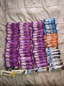 Lot 73 Premier Pure Protein Bars Chocolate Brownie PB Caramel Nut 6/19-4/21