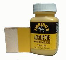 Fiebing's Acrylic Leather Dye Paint 2 oz. (59 mL) 12 Color Choices Fiebings