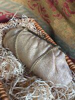 1970s Evening Bag Handbag Vintage Retro 1960s Lurex Gold Coloured Purse Satin