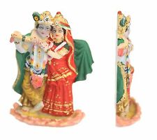 MINI INDIAN HINDU GOD RADHA KRISHNA STATUE MURTI COLOURED FLAT