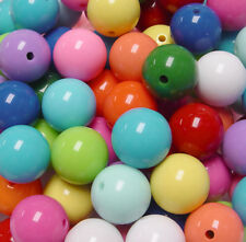 20mm Multi Colors Big Round Chunky Bubblegum Large Acrylic Craft Beads 25pc