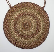 "Homespice Decor HARVEST Braided Jute 15"" Round Chair Pad"