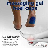 Medipaq Gel Heel Cup Supports Foot Feet Cushion Insole Pain Relief Pad Plantar