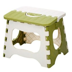 Plastic Folding Step Stool Portable Chair Small Bench For Children Home Use