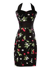 UK 14 BLACK Wiggle Retro Vintage 50's Evening Pageant Formal Party Pencil Dress