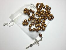 St Teresa of Avila brown relic rosary patron of bodily ills headaches sickness