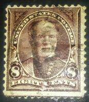 #225 1890-93 8c Lilac (Brown) Sherman US Postage Stamp