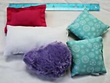 "American Girl 18"" Doll Size Pillows Lot of (5) Pink/Blue/White/Purple"