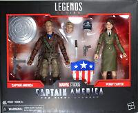 Marvel Legends ~ CAPTAIN AMERICA & PEGGY CARTER EXCLUSIVE ACTION FIGURE SET