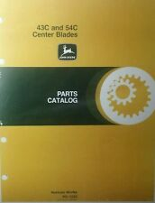 John Deere 43C 54C Center Blade 110 112 216 316 140 Garden Tractor Parts Manual