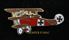 RED BARON FOKKER DR 1 LAPEL HAT PIN UP GERMAN LUFTWAFFE WW 1 WING PILOT WING WOW