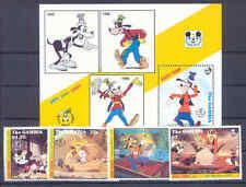 Walt Disney, Goofy - Gambia - 4 Werte, 1 Bl. ** MNH Teilsatz