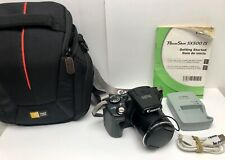 CANON POWERSHOT SX500 IS 16.0 MP Blk Digital Camera Battery Charger Bag 16GB mem