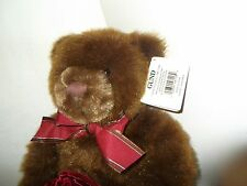 Gund Make a Wish Plush Teddy with tag and Velvet pouch for special gift