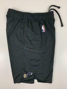 Nike Utah Jazz Grey Basketball Shorts Men Size S Small Dri Fit NBA Polyester EUC