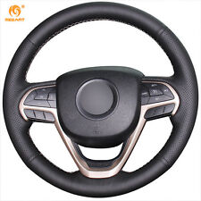 1 set DIY Durable Black Leather Steering Wheel Cover for Jeep Grand Cherokee