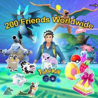 🥚 Pokemon Go 200 Friends ⚔ Join Raids ❗ Daily Gifts 🎁 shiny plus regional 🌊