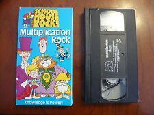 VHS Video Tape School House Rock Multiplication Rock