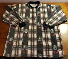 VTG 90s Tommy Hilfiger RARE 👌 Colorblock Crest FLAG All-Over Shirt | Large