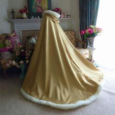 Long Winter Warm Faux Fur Wedding Cape White/Ivory Bridal Shawls Women Jacket