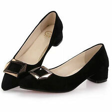 Women's Solid Cuban Heels