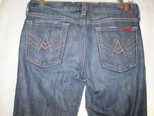 7 Seven For All Mankind - A Pocket Jeans Flare Dark Wash Sz 28 30x34