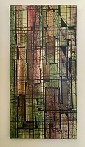 Signed 1967 Magnus Engstrom Mid Century Mixed Media Abstract Modernist Painting!