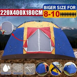Camping Tents 8-10 Person - Outdoor Big Family Large Tent Durable Portable Easy