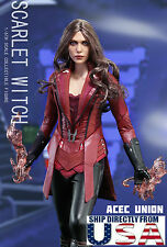 In Stock 1/6 Scarlet Witch Head Figure Full Set For Captain America Civil War