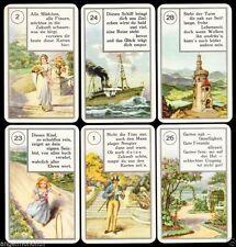 Antik Rarität c1890 Lenormand Wahrsagekarten mit Versen Piatnik No.69 Tarot