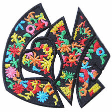 Love Peace Power Flower Vine Starfish Colorful Hippie Boho Iron-On Patches #R068