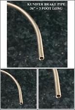 """COPPER NICKEL - KUNIFER Brake Pipe 3/16"""" OD Length 36 inches"""