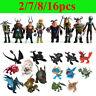 2/7/8/16Pcs How to Train Your Dragon Action Figures Figurines poupées Jouets Toy